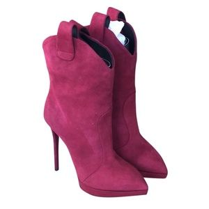 Giuseppe Zanotti red suede boots